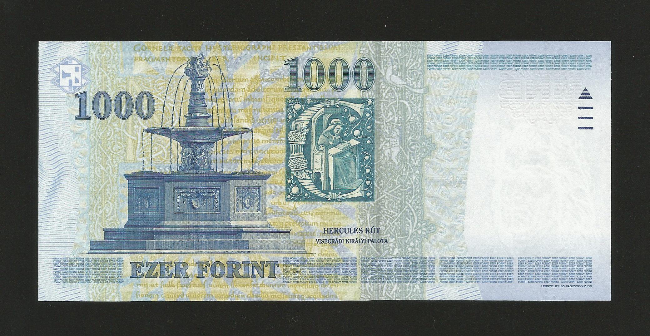 1000 eur in huf