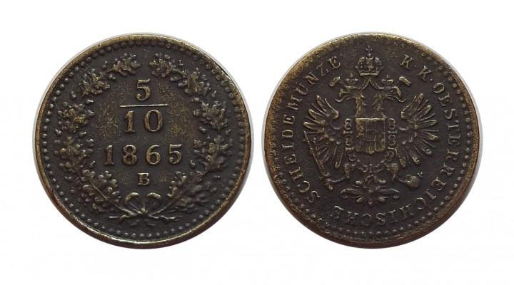 5 10 kreuzer 1865 b
