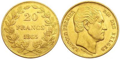 20francs1865belgium