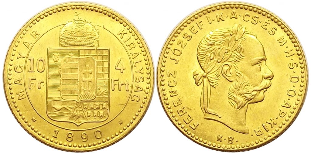 4 forint 1890 Fiume Ferenc József