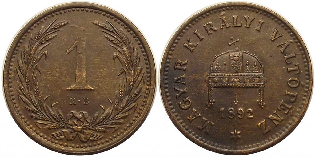 1 fillér 1892 Ferenc József