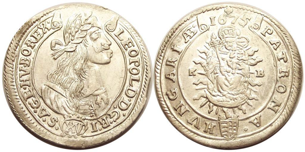 XV krajcár 1675 KB I. Lipót