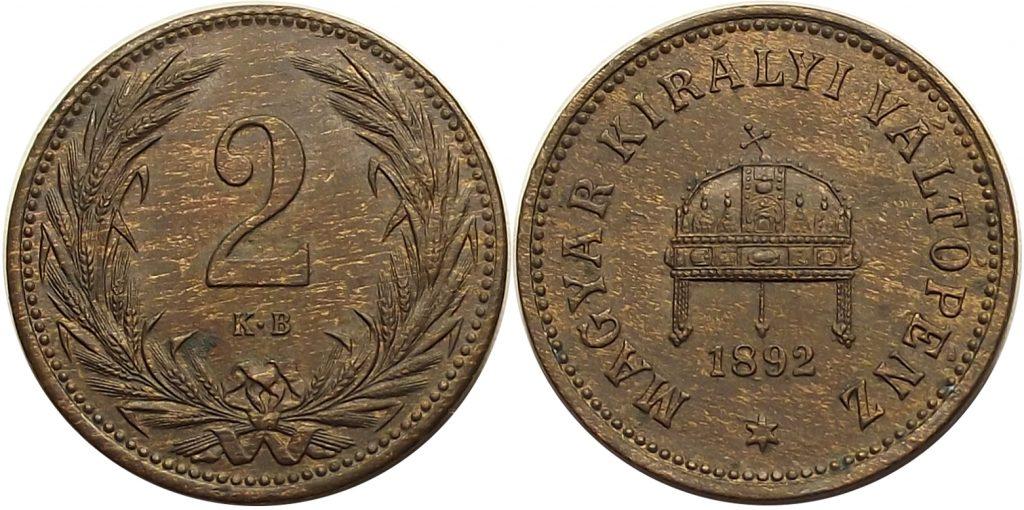 2 fillér 1892 Ferenc József – R!