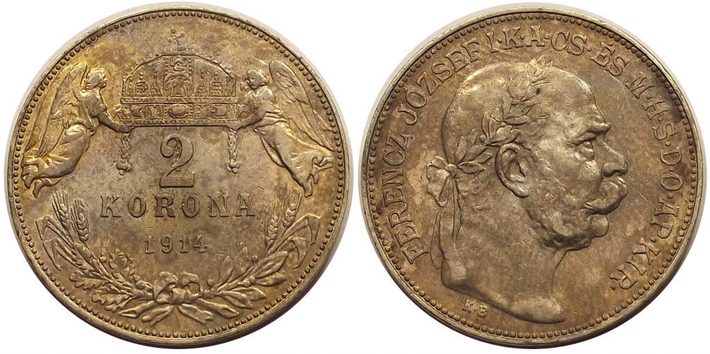 2 korona 1914 Ferenc József
