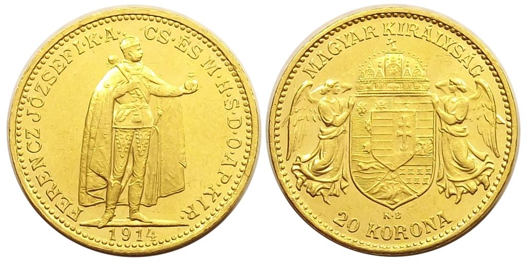 20 korona 1914 Ferenc József