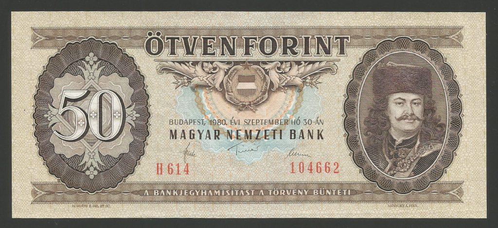 50 forint 1980 H