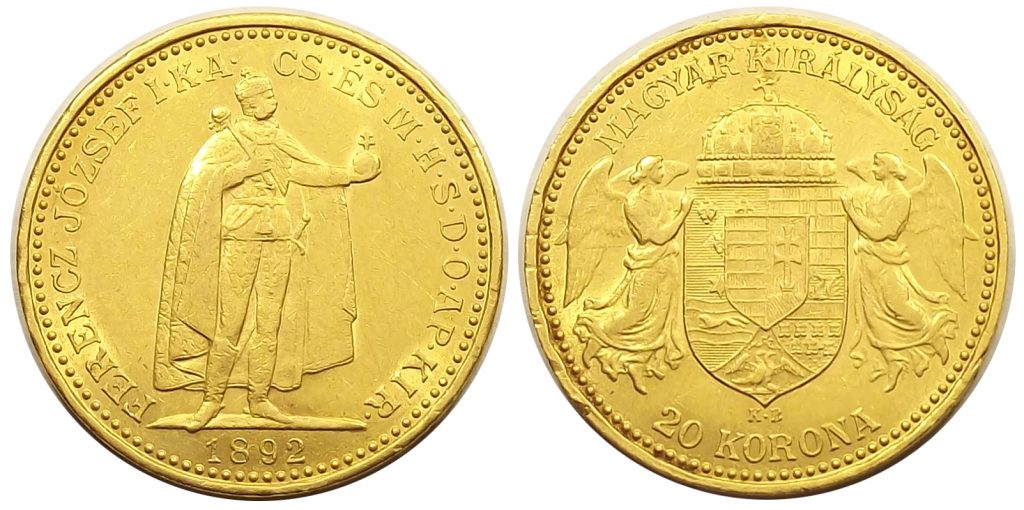 20 korona 1892 Ferenc József