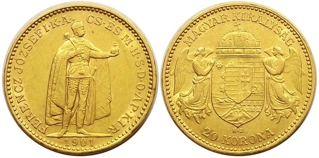 20 korona 1901 Ferenc József