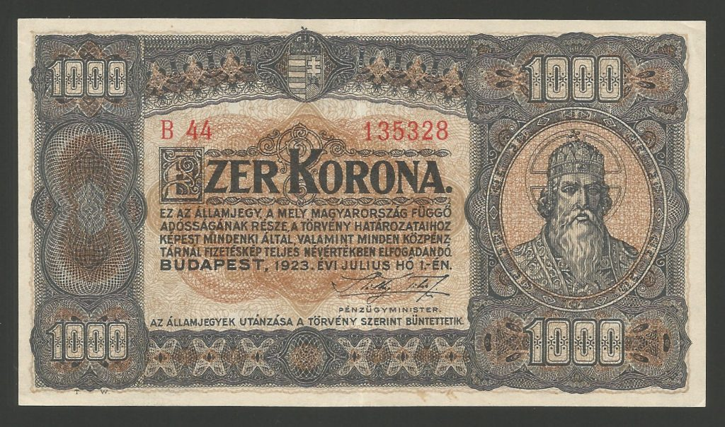 1000 korona 1923