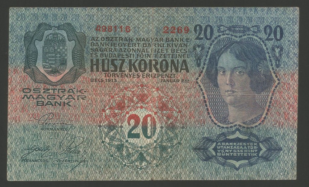 20 korona 1913 I. kiadás