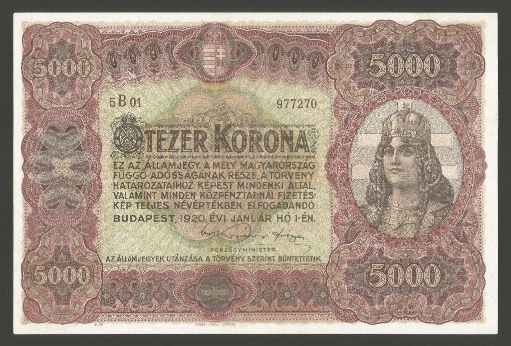 5000 korona 1920