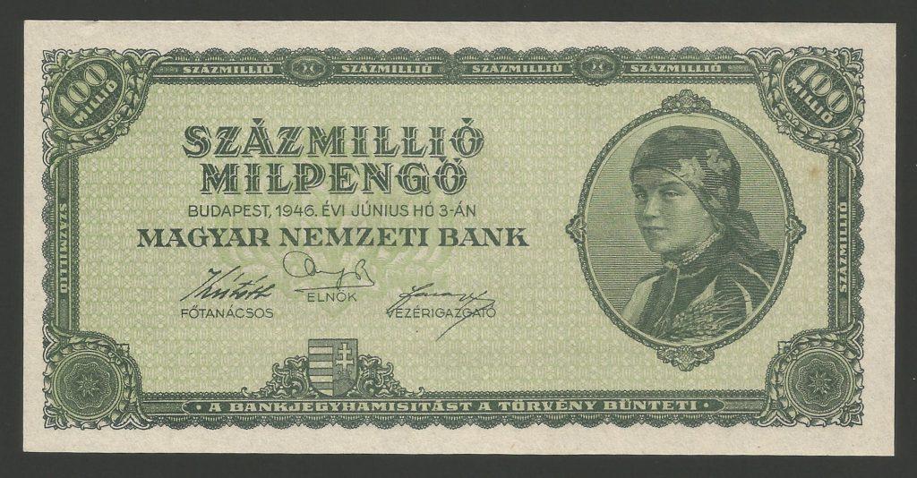 100 millió milpengő 1946