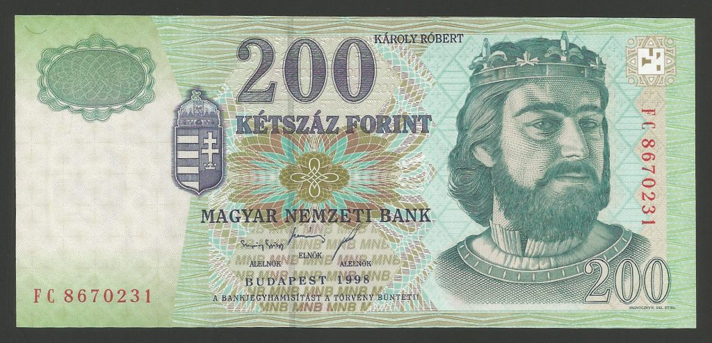 200 forint 1998 FC