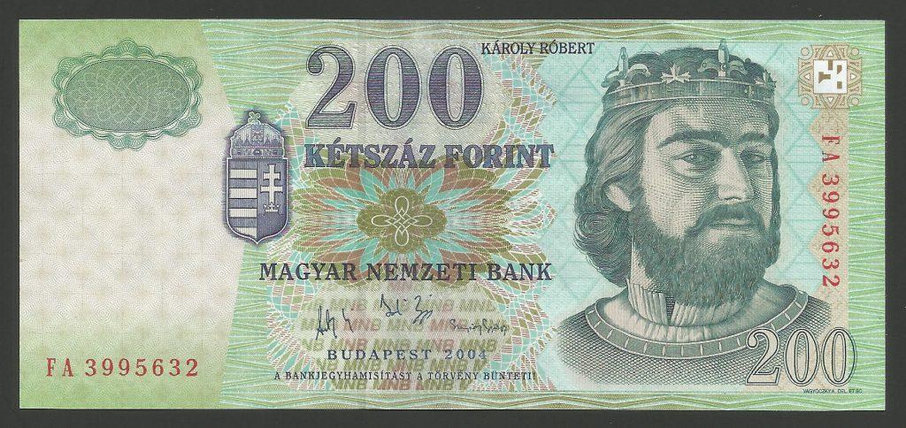 200 forint 2004 FA