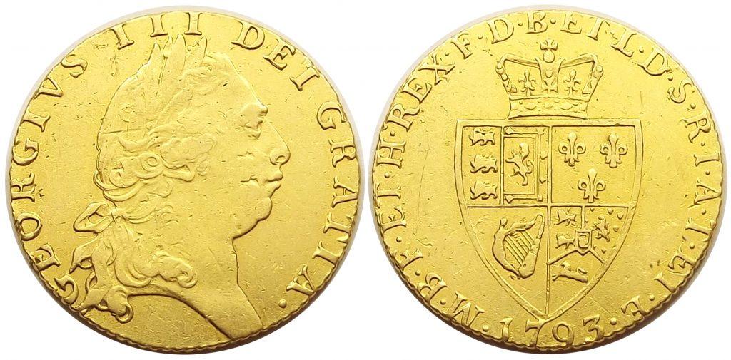 1 guinea 1793 III. György Anglia